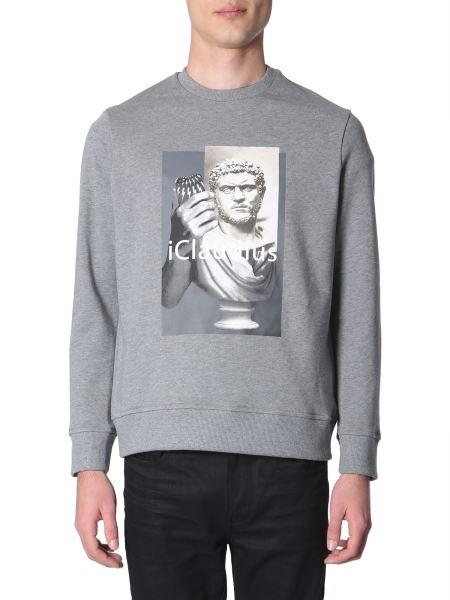 "Neil Barrett - ""i-claudius"" Printed Cotton Crew Neck Sweatshirt"