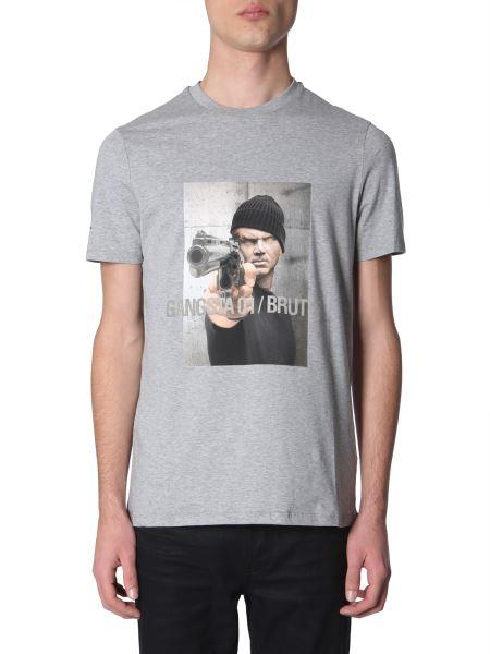 "Neil Barrett - ""gangsta 01 / Brutus"" Printed Cotton Crew Neck T-shirt"