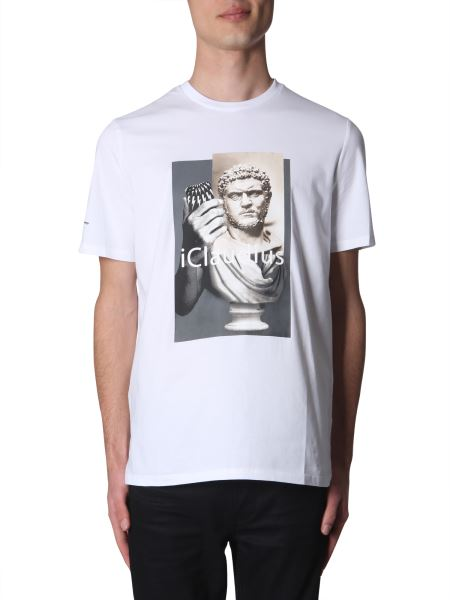 "Neil Barrett - ""i-claudius"" Printed Cotton Crew Neck T-shirt"