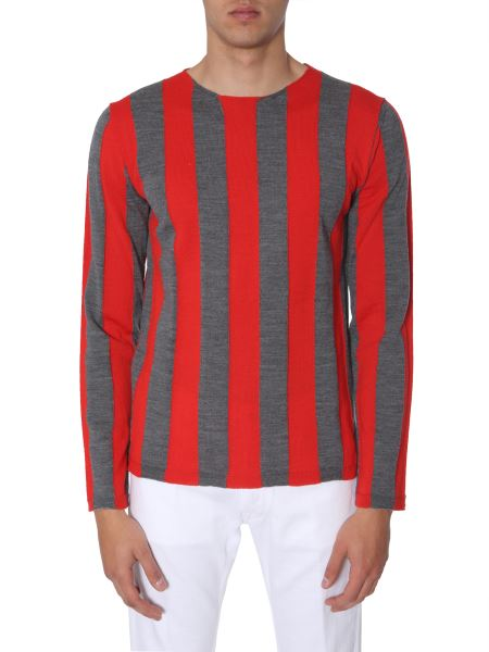 Comme Des Garcons Shirt - Light Striped Wool Sweater