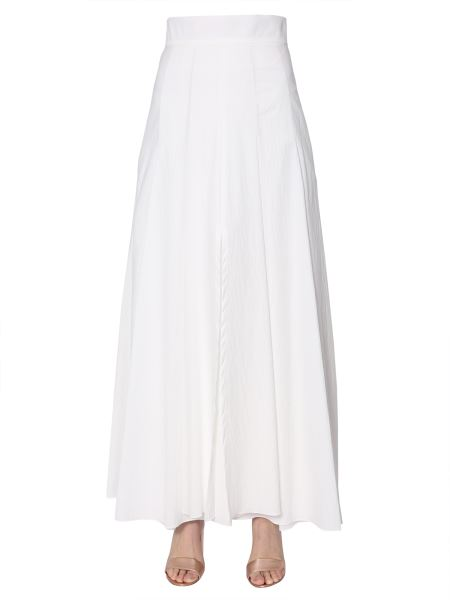 Brunello Cucinelli - Long Cotton Blend Skirt With Split