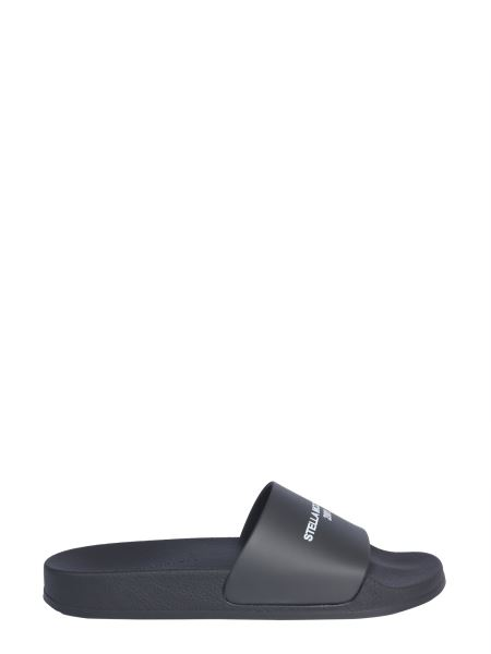 Stella Mccartney - Slide Rubber Sandals With Logo