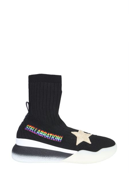 Stella Mccartney - Loop High Top Sneakers With Patch