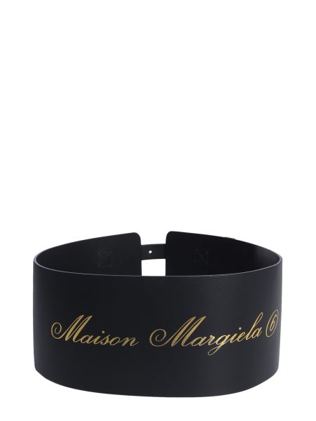 Mm6 Maison Margiela - Leather Belt With Double Buckle