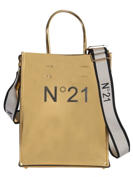 N°21 - Laminated Leather Shopping Bag With Logo