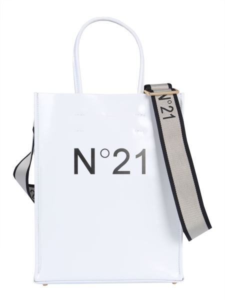 N°21 - Small Shopping Leather Bag With Logo