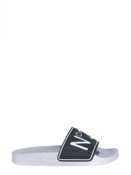 N°21 - Slide Sandals With Logo