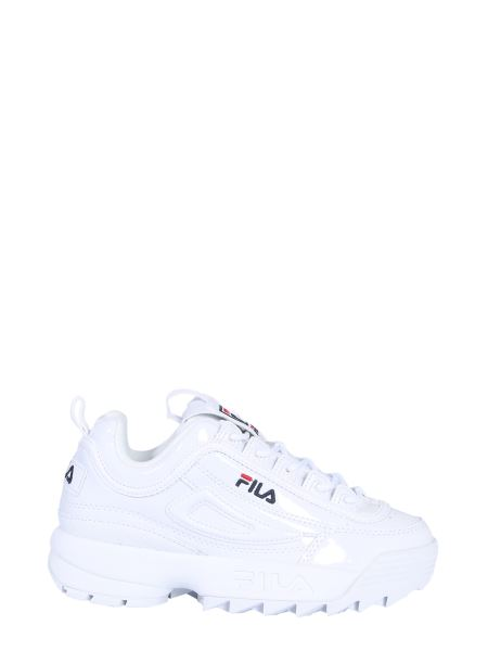 Fila - Disruptor M Low Sneakers In Glossy Leather