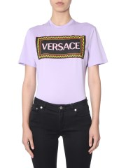 VERSACE - T-SHIRT CON STAMPA LOGO 90S VINTAGE