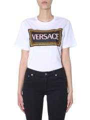 VERSACE - T-SHIRT CON STAMPA GOMMATA 90S VINTAGE LOGO