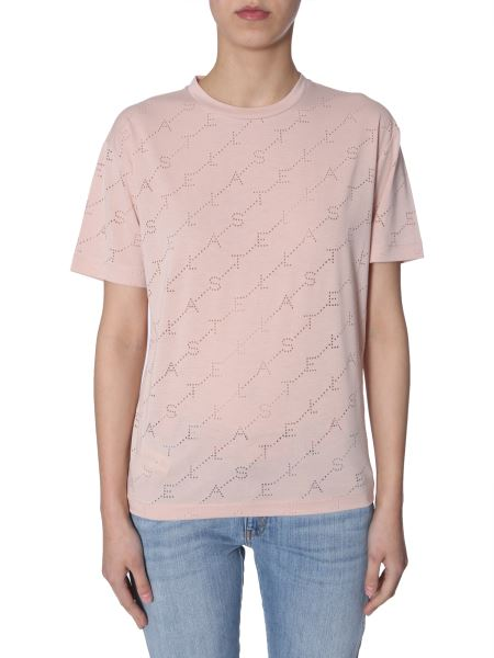 Stella Mccartney - Perforated-logo Crewneck T-shirt