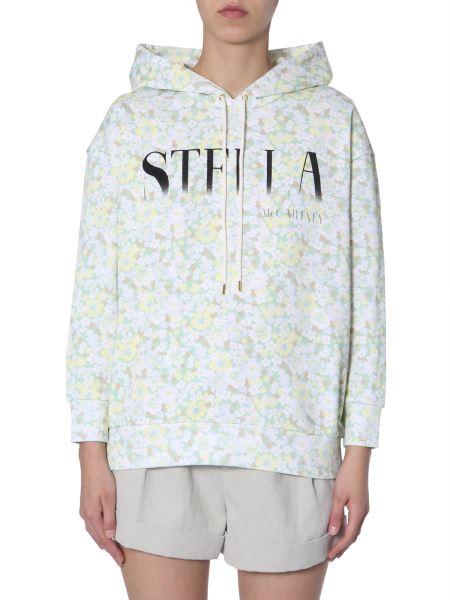 Stella Mccartney - Felpa In Cotone Con Stampa Floreale