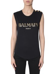 BALMAIN - TOP CON STAMPA LOGO