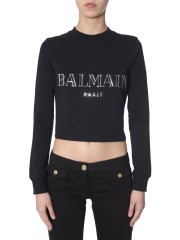 BALMAIN - FELPA A COLLO ALTO