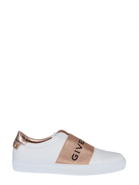 Givenchy - Urban Street Leather Sneakers With Logo Band