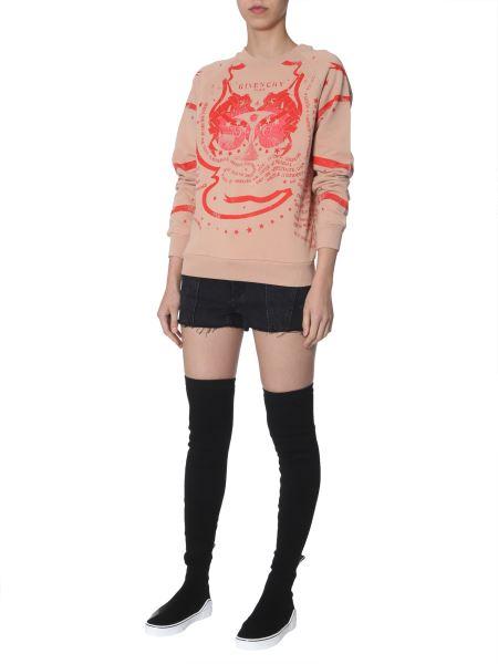Givenchy - Logo-print Cotton Crewneck Sweatshirt
