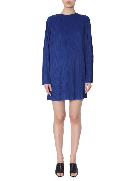 Givenchy - Micro Pleated Long-sleeved Dress