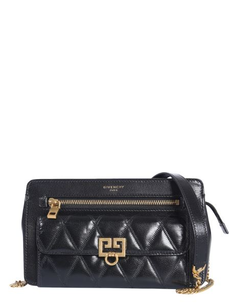 Givenchy - Leather Pocket Bag With Rubber Print