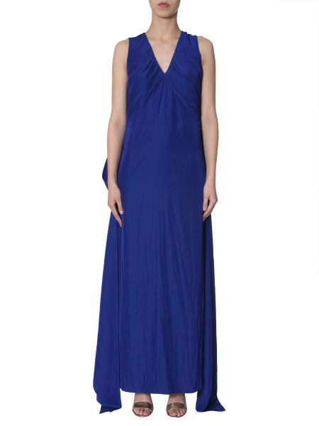 Lanvin - Lightly-pleated Satin Maxi Dress