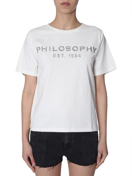 Philosophy Di Lorenzo Serafini - Lurex Logo-embrodery Cotton Crewneck T-shirt