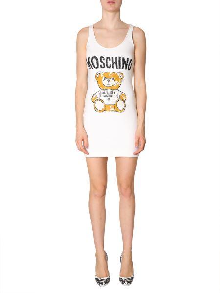 Moschino - Abito Senza Maniche Con Patch Brushstroke Teddy Bear