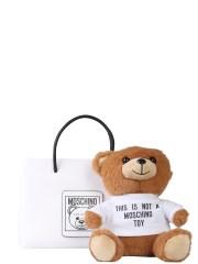 MOSCHINO - BORSA SHOPPING CON TEDDY BEAR APPLICATO