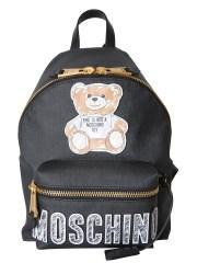 MOSCHINO - ZAINO MEDIO CON PATCH BRUSHSTROKE TEDDY BEAR