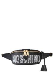 MOSCHINO - MARSUPIO CON PATCH BRUSHSTROKE TEDDY BEAR