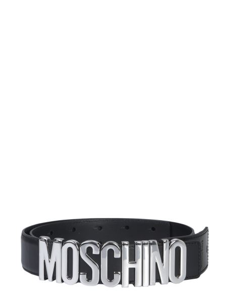 Moschino - Leather Belt With Logo
