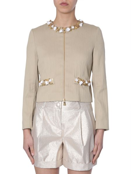 Boutique Moschino - Embroidered Shot-cotton Jacket
