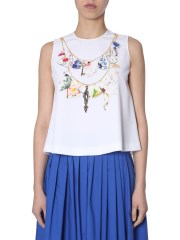 BOUTIQUE MOSCHINO - TOP CON STAMPA