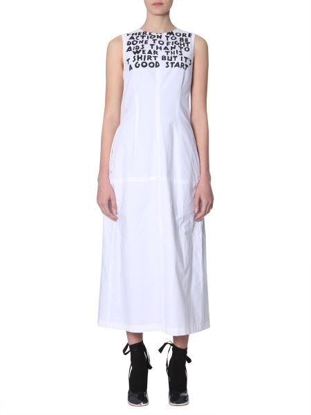 Mm6 Maison Margiela - Printed Cotton And Viscose-blend Maxi Dress