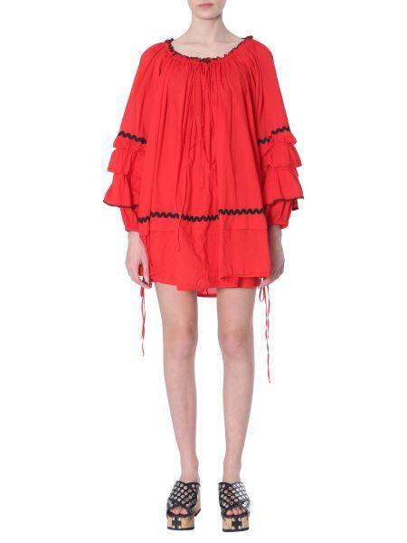 Mcq Alexander Mcqueen - Cotton Dress With Appliquéd Trims