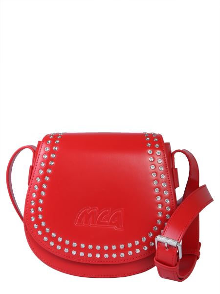 Mcq Alexander Mcqueen - Mini Leather Cross Bag With Studs