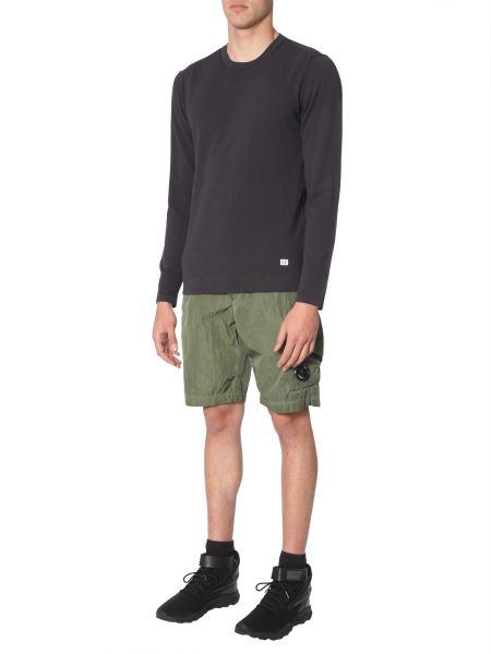 C.p. Company - Crew Neck Crêpe Cotton Sweater