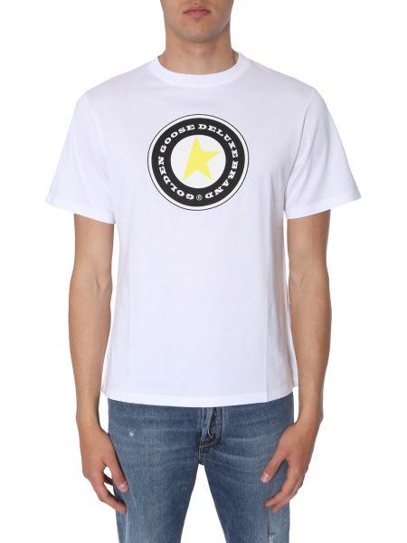 Golden Goose Deluxe Brand - T-shirt Girocollo In Cotone Con Stampa Logo