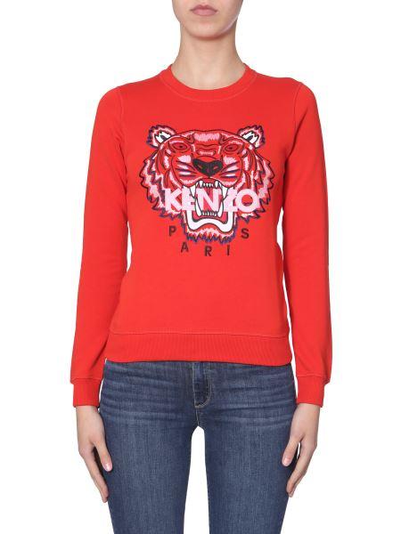 Kenzo - Tiger Embroidered Crew Neck Cotton Sweatshirt