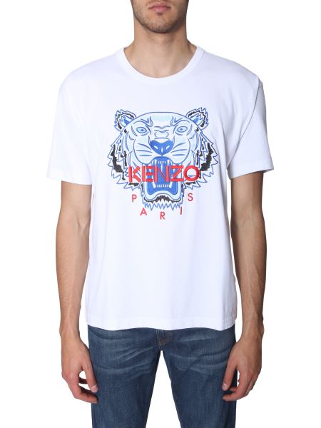 Kenzo - Tiger Print Round Neck Cotton T-shirt