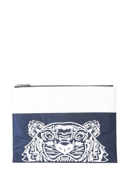 Kenzo - Tiger Embroidered Large Pouch