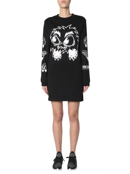 Mcq Alexander Mcqueen - Monster Printed Cotton Jersey Dress
