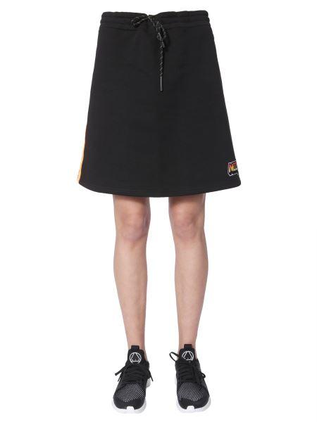 Mcq Alexander Mcqueen - Cotton Sweatshirt Skirt With Elastic Waistband