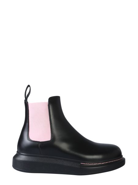 Alexander Mcqueen - Chelsea Hybrid Leather Boots