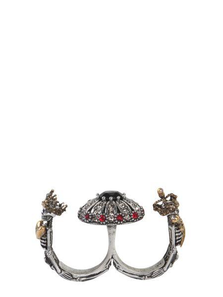 Alexander Mcqueen - Double Skeleton Brass Ring