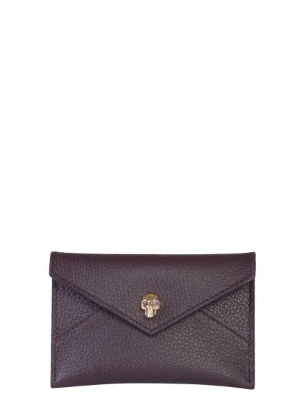 Alexander Mcqueen - Skull Envelope Leather Card Holder