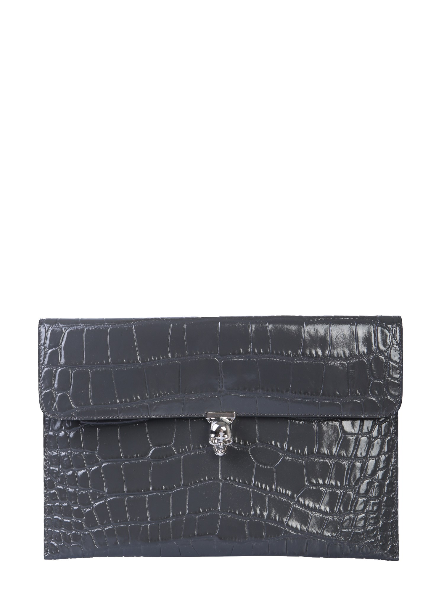 Bolsa de pele com aba Alexander McQueen