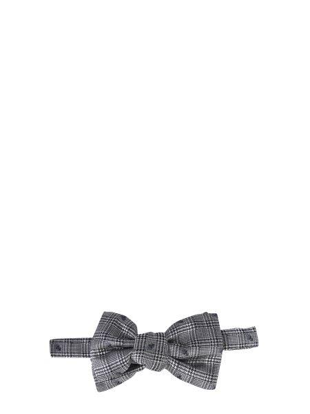 Alexander Mcqueen - Prince Of Galles Silk Bow Tie