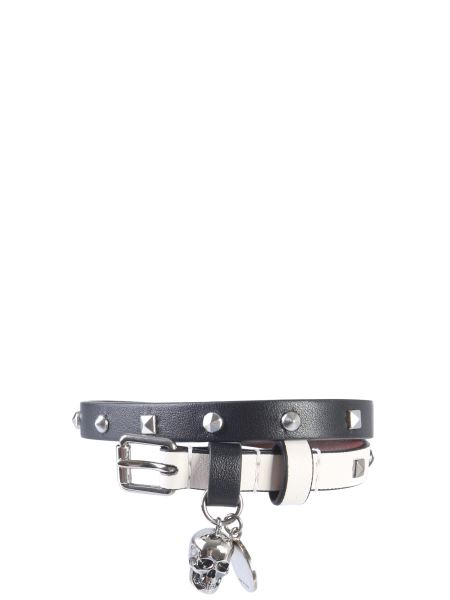 Alexander Mcqueen - Double Turn Leather Bracelet