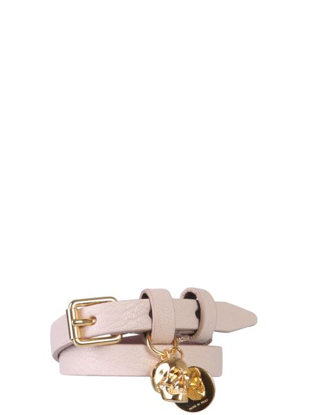 Alexander Mcqueen - Leather Bracelet With Double Turn