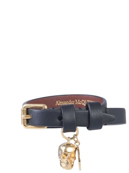 Alexander Mcqueen - Leather Bracelet With Double Turn Lock