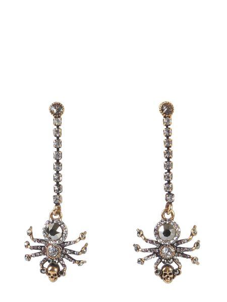Alexander Mcqueen - Brass And Swarovski Spider Earrings